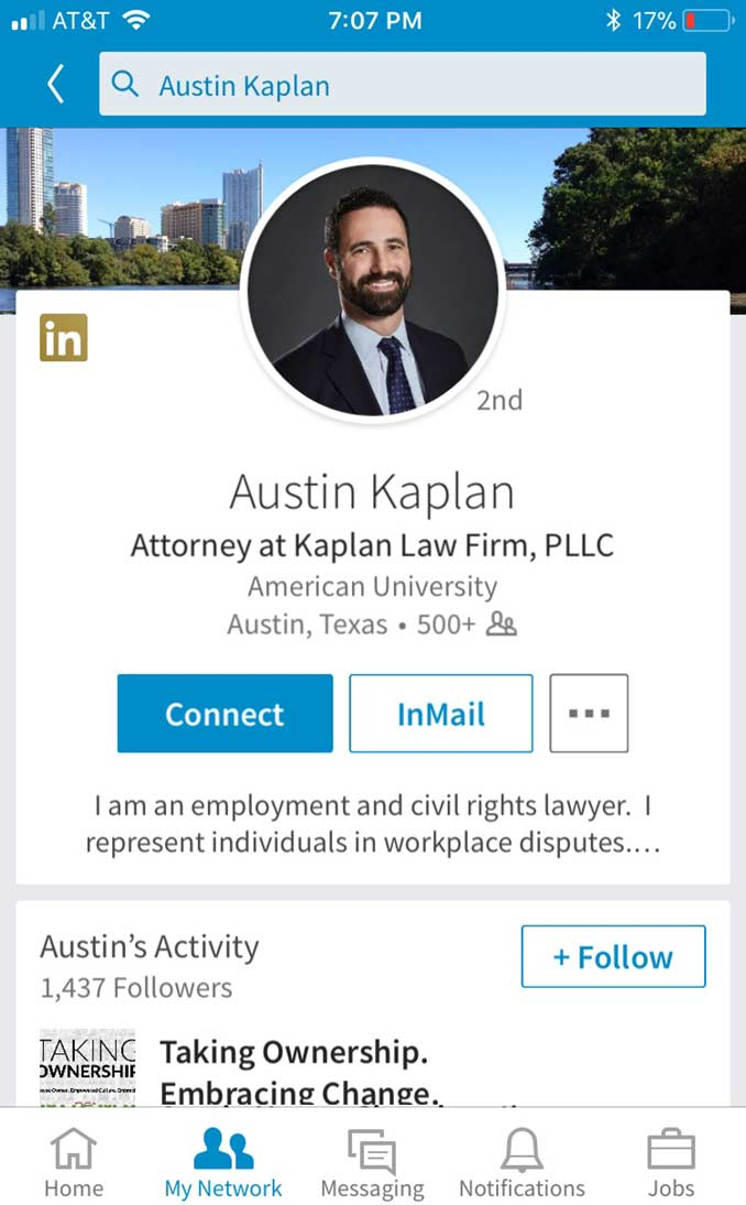 Follow the Kaplan Law Firm on LinkedIn